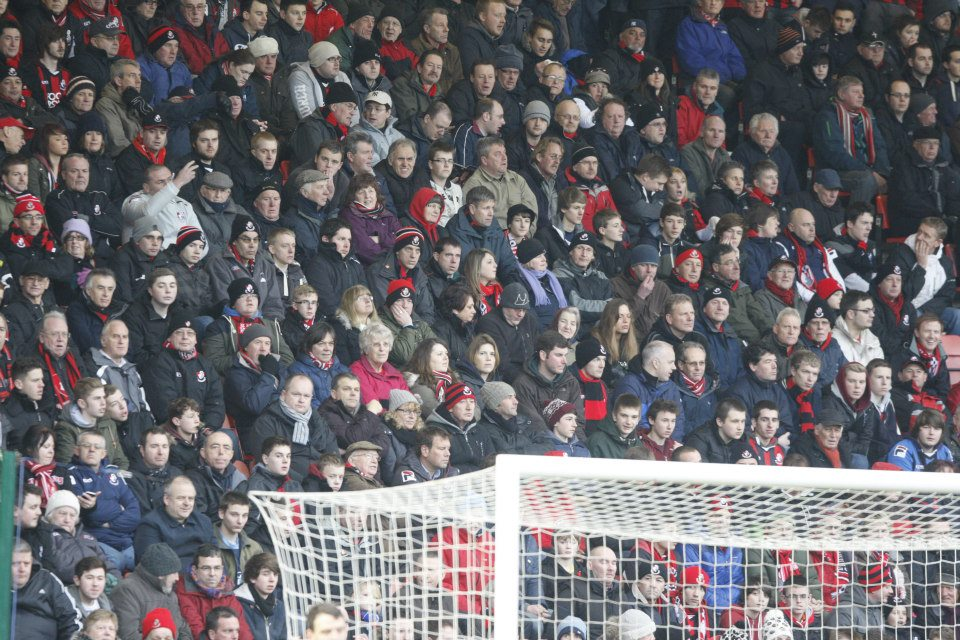 Cherries fans watching Portsmouth game