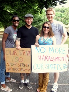 Holly Kearl at an anti-street harassment march in Washington DC