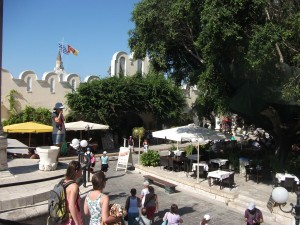 The square in Kos Town. Photos: Natalie Kerry