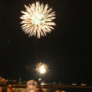 Poole's fireworks light up the quayside. Photo: Sophie Spirit