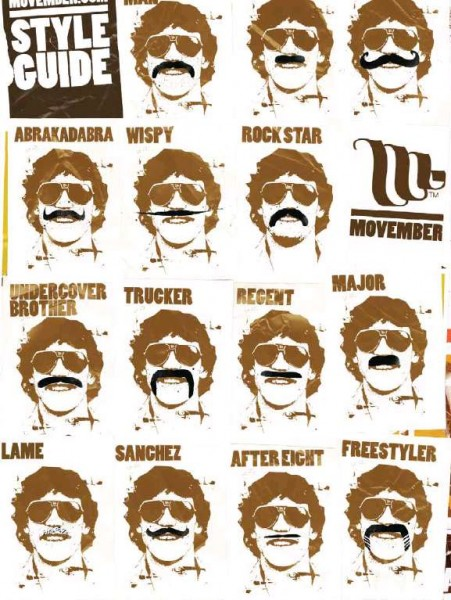 Movember style guide.