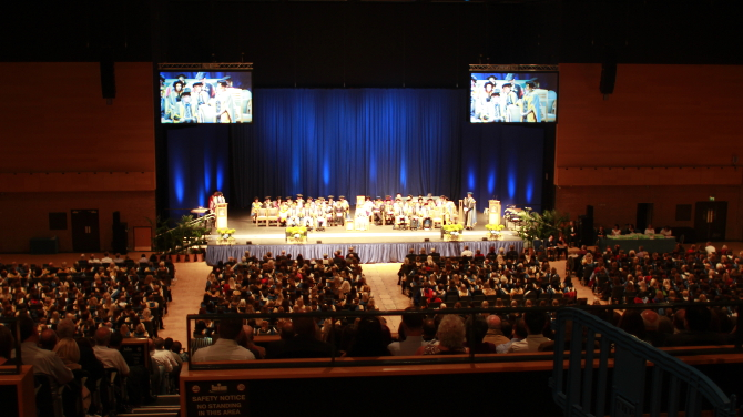 Graduation view from gallery