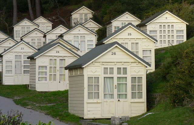 Canford Cliffs Chine Beach Huts Photo: Chris Downer