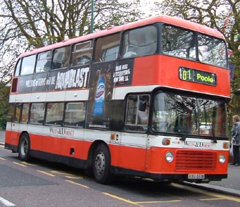Wilts & Dorset bus at Bournemouth Square on route 101. Photo: Santofski