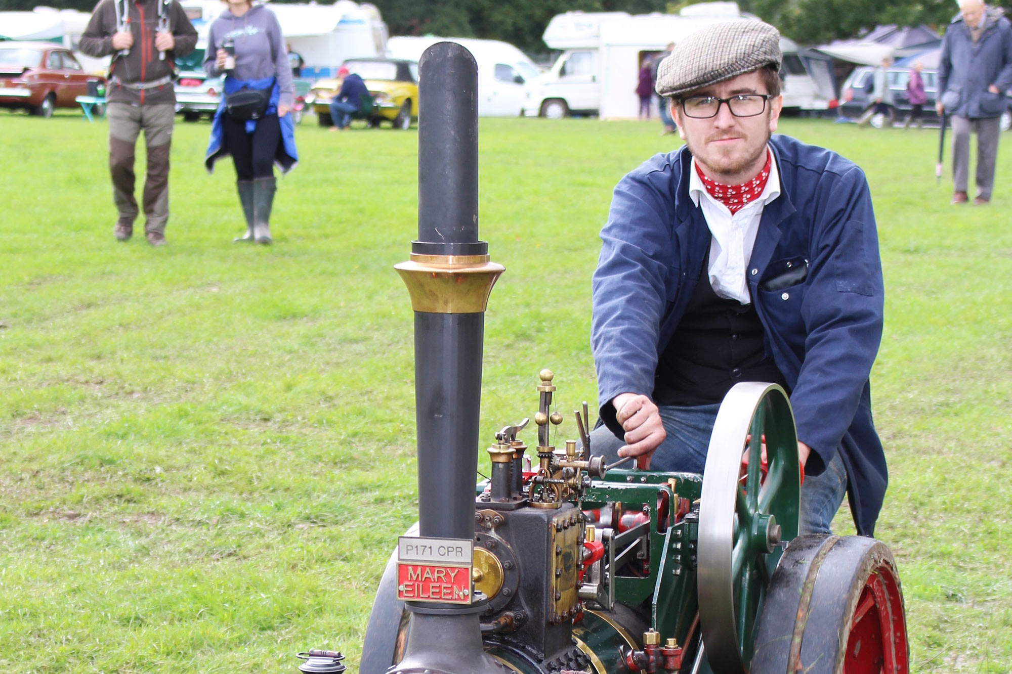 Miniature steam engine at Burley charity show