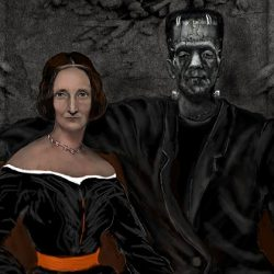 How Mary Shelley reacts on her life to Frankenstein monster