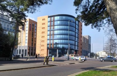Photograph of One Lansdowne Plaza from St Swithuns Roundabout