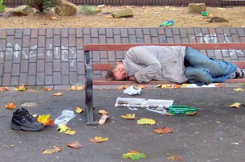 Homeless man in Bournemouth