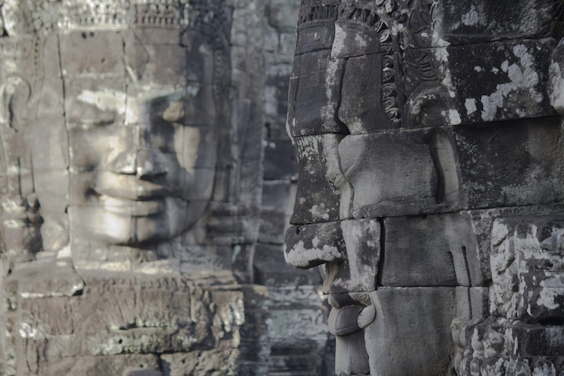 Two faced temple at Angkor Wat Cambodia