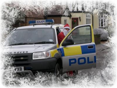 Santa and a police car