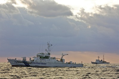 Japanese ships patrol the Senkaku islands