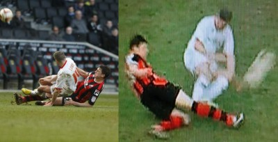 Ryan Lowe tackle on Tommy Elphick