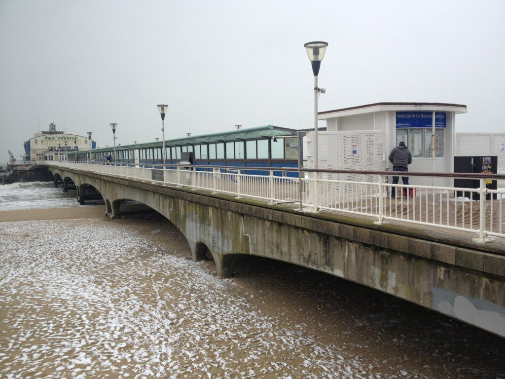 Bournemouth Pier snow