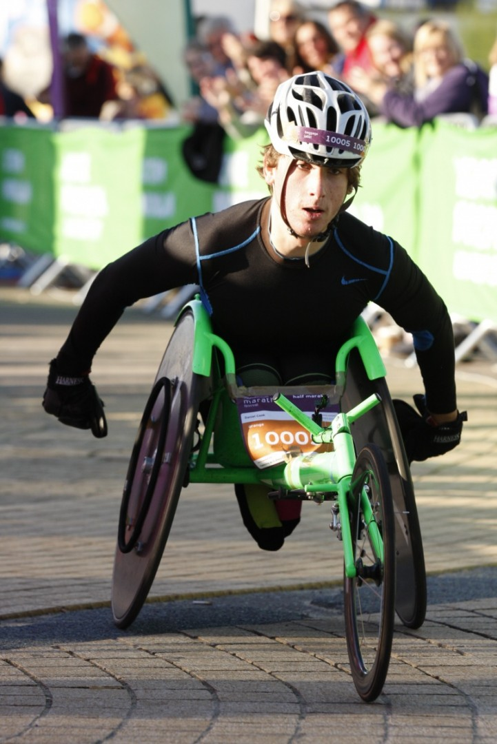 BMF 2013 Half Marathon - first wheelchair competitor - Daniel Cook(2)