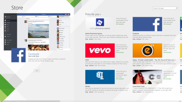 Windows 8.1 app-store
