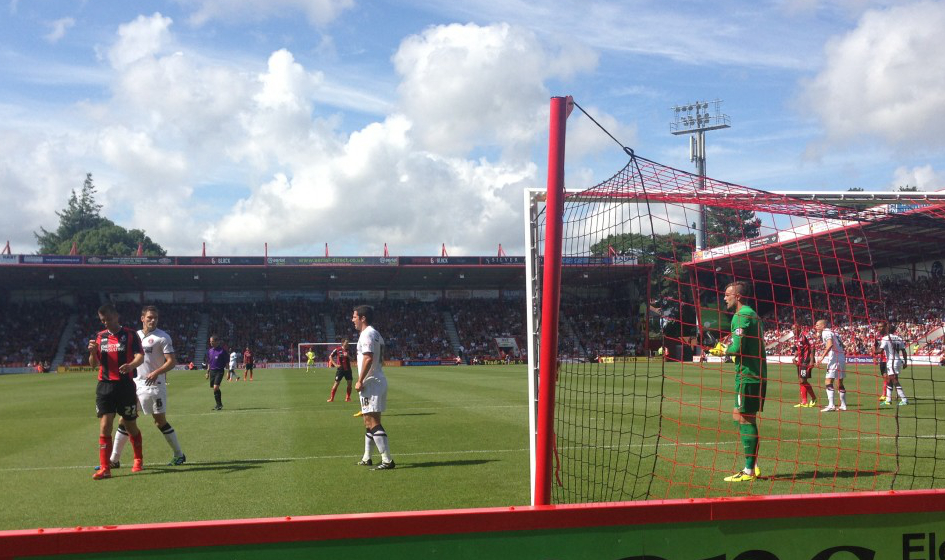 Bournemouth's attacking in their first home game of the season against Charlton. Photo: Daniel Matcham.