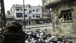 A scene of devastation in Homs last year. Photo: Syria Freedom