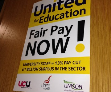 Joint union placard