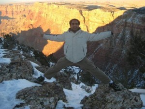 Atul at the Grand Canyon, 2009. Photo: Atul Singh
