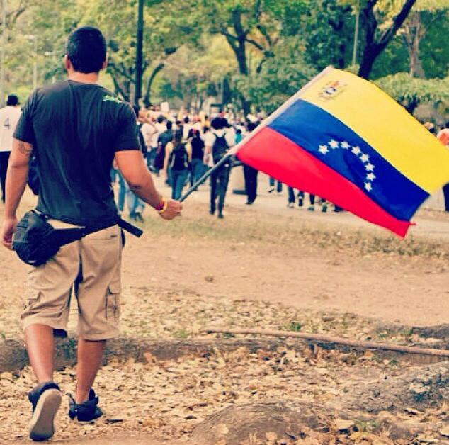 Student protest inside the Central University of Venezuela