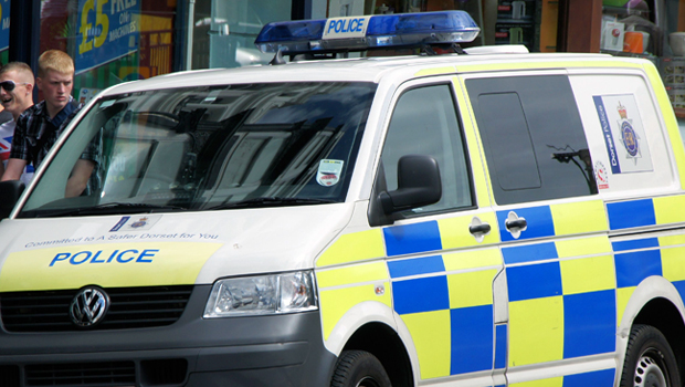 A Dorset Police van