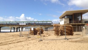 Work begins at Boscombe Pier. Photo: Yessi Bello Perez