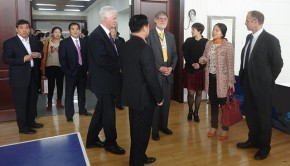 Bournemouth Mayor Rod Cooper with representatives of schools in Zibo, China. Photo: Rod Cooper