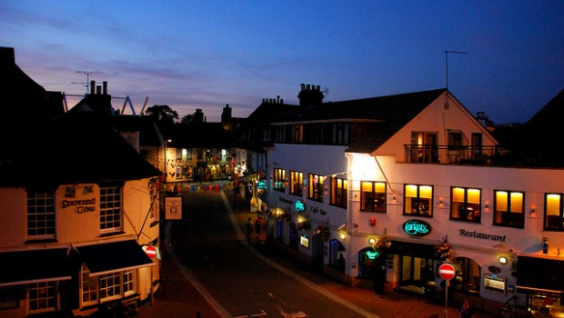 Quiet evenings on Poole Quay are a worry for businesses. Photo: Richard Sz
