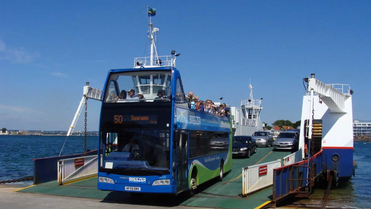 Picture of a Sandbanks ferry