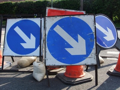 Picture of roadworks signs