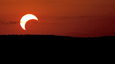 Photo of a partial solar eclipse