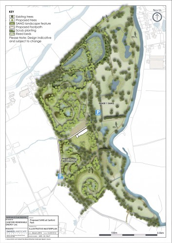 Suitable Alternative Natural Green space on Canford golf club. Photo: Canford Renewable Energy.