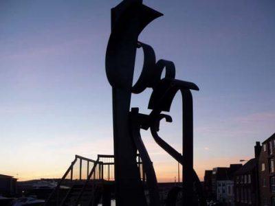 Sea Music sculpture on Poole Quay