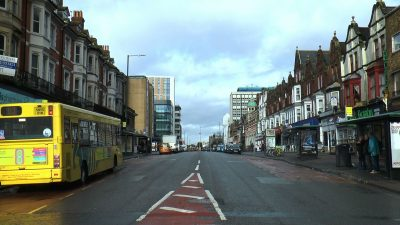 A photograph of Holdenhurst Road in Lansdowne, Bournemouth