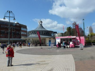 a photograph of Bournemouth town square