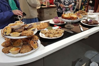 Photo of cakes from charity coffee morning.