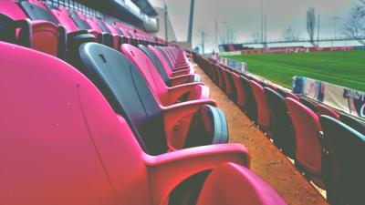 Football seats.