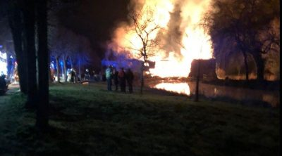18th Century Hampshire mill gutted by blaze