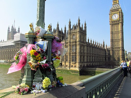 Flowers on Westminster Bridge
