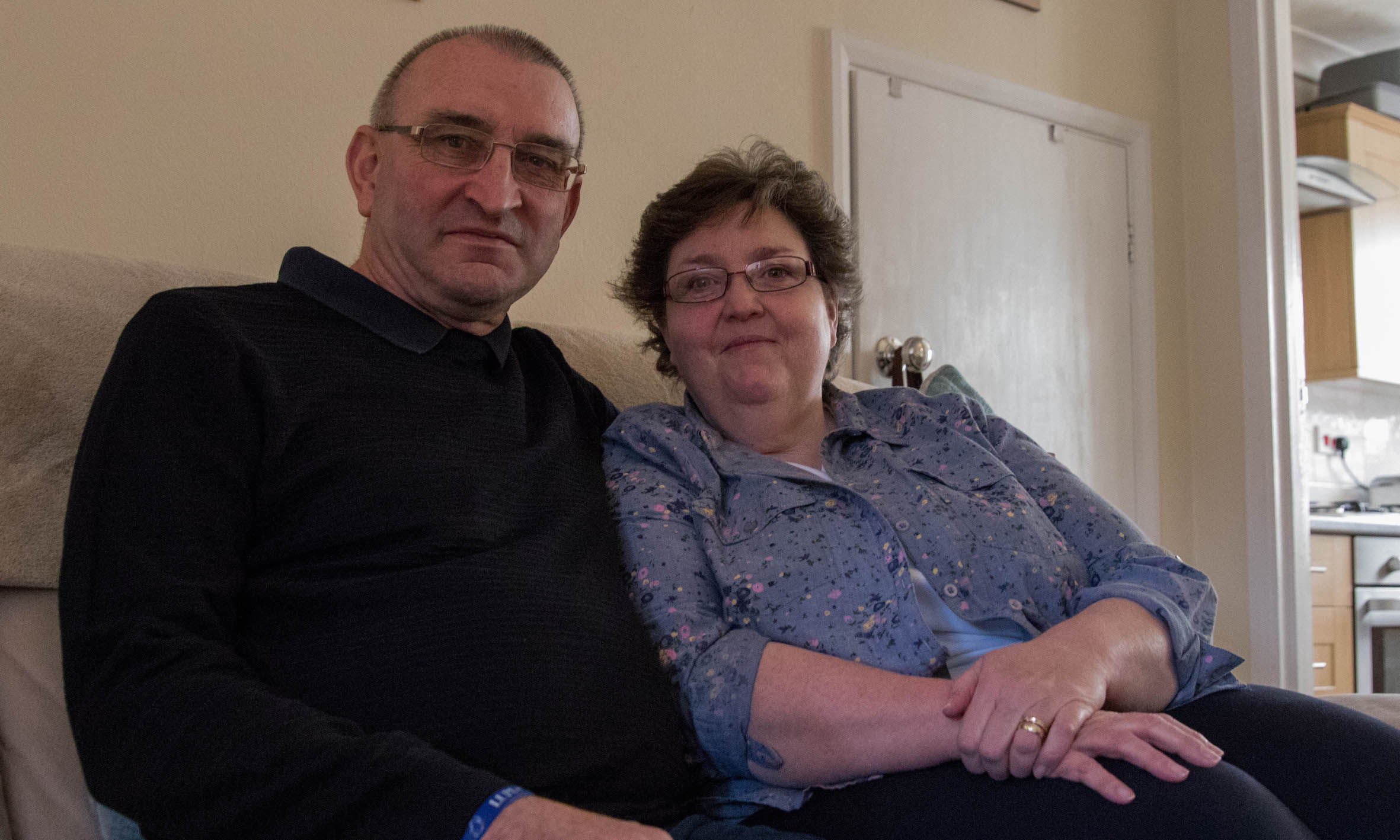 Photo of Helen Bifield, who has lupus, and her husband Stuart