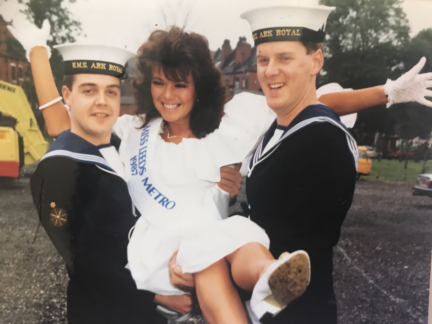 Angie Beasley, competing for Miss England in the 1987