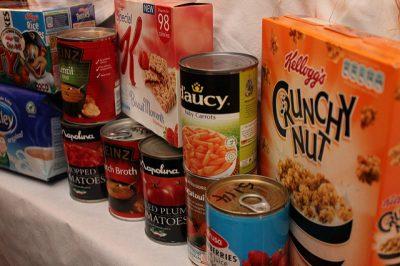 Photo of food bank donations