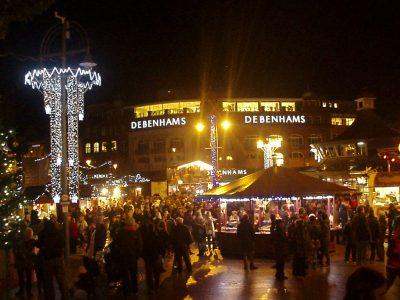 Bournemouth Christmas Market at night