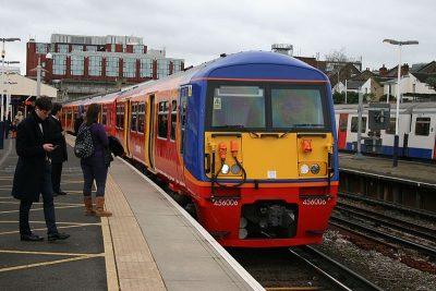 South West Train at a platform