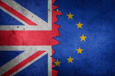 British and European flag.