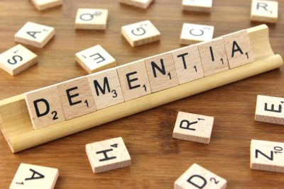 scrabble board of dementia