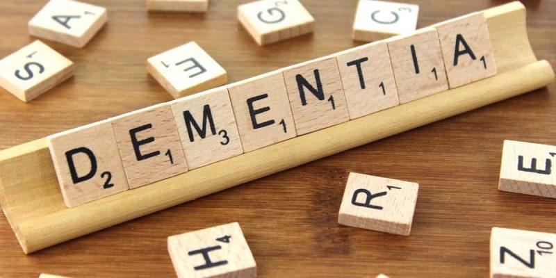 scrabble board of dementia