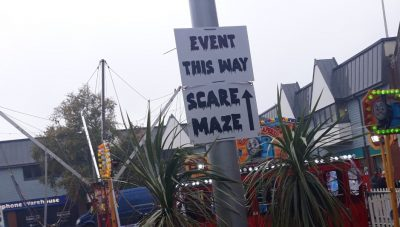 Event sign at Zombie Fest