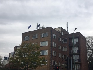 Flats with EU flags