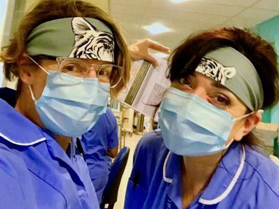 NHS Nurses wearing headbands